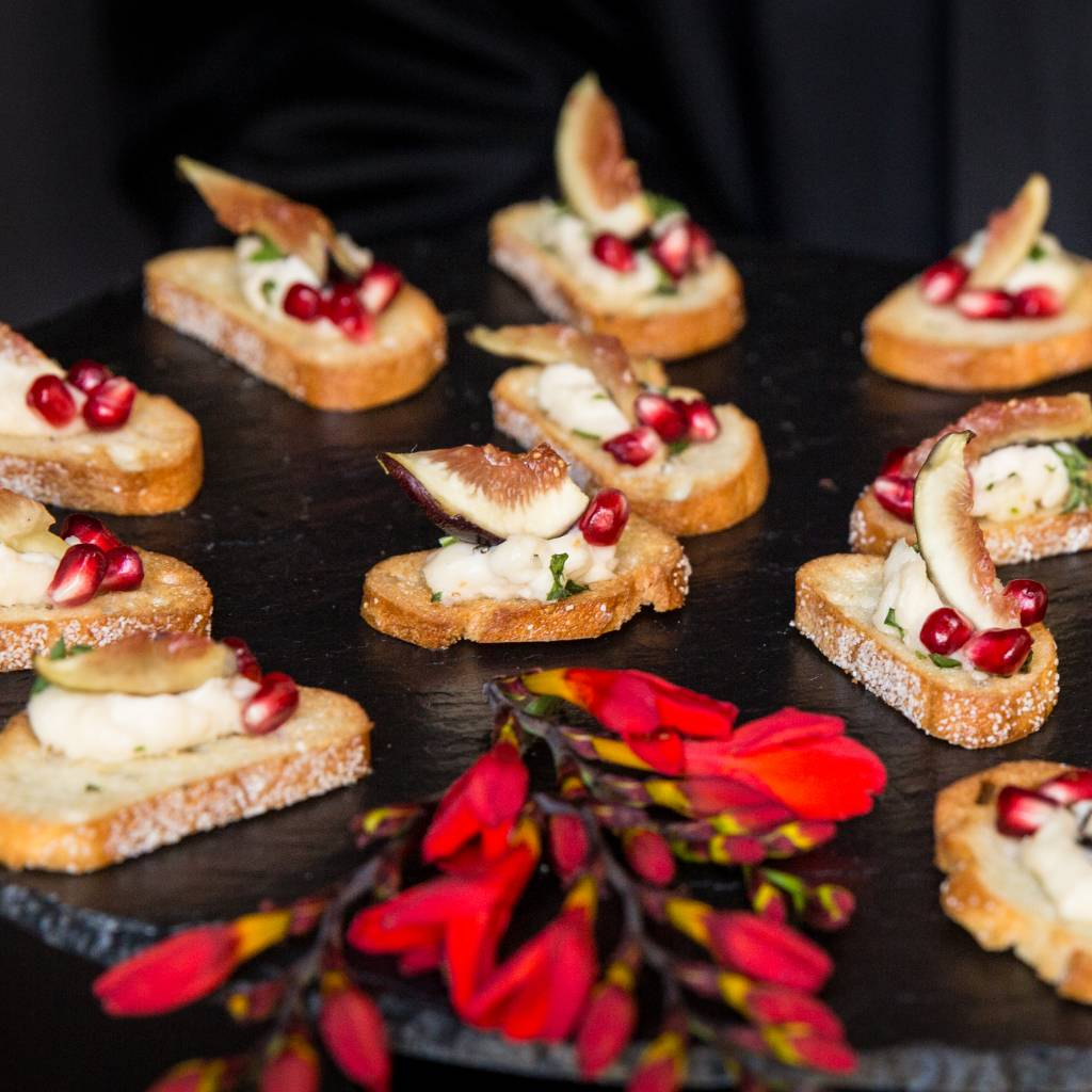 Holiday appetizers with fig and cranberry