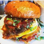 Meatloaf Sandwich with house bbq and fried egg